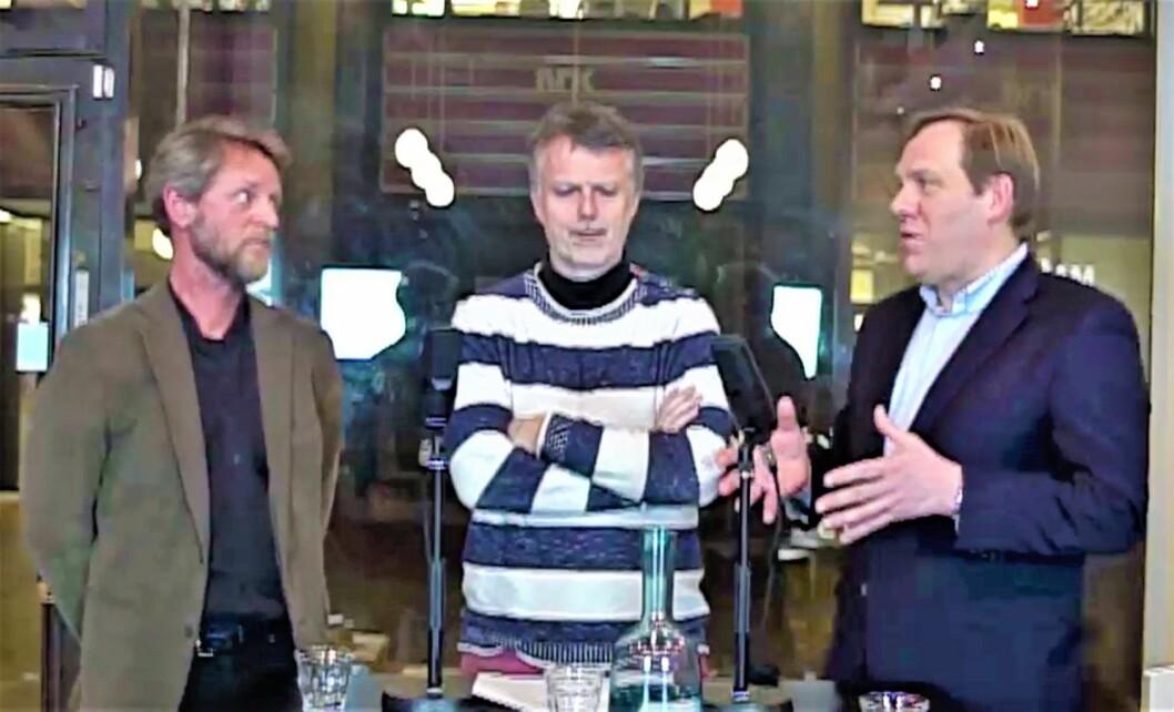 Denne episodens Byrpat-panel består av Ola Skar, prosjektleder i Ruter og Jon Anders Henriksen, Næringspolitisk direktør i Oslo Handelsstands Forening. I midten bydoktor Erling Fossen.
