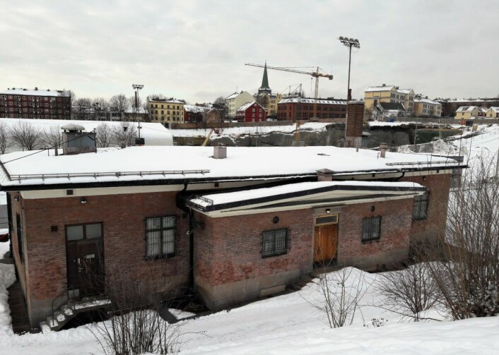 Klubbhuset og garderobene på Jordal. Foto: Anders Høilund