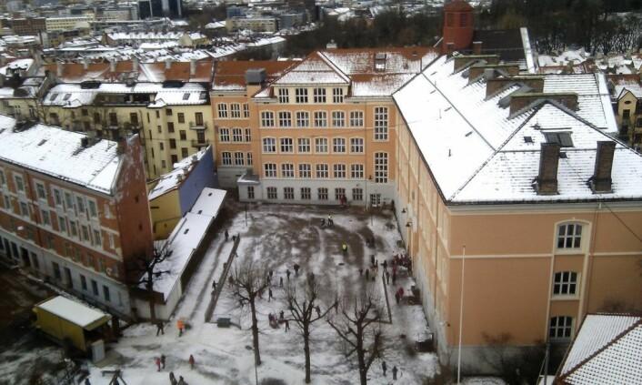 Tøyen skole er et senter i lokalmiljøet på Tøyen. Foto: Wikimedia Commons