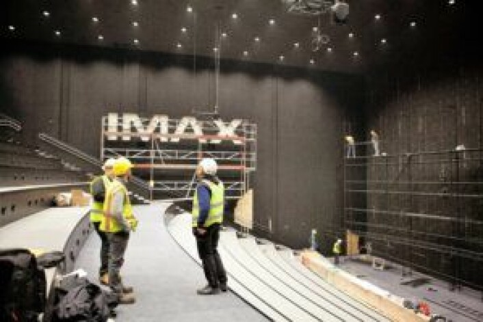 IMAX-salen i Odeon Oslo under konstruksjon. Foto: Odeon Kino
