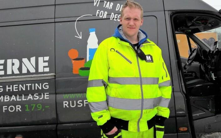 Steffen er ansatt som runner hos Medarbeiderne. Foto: Anders Høilund