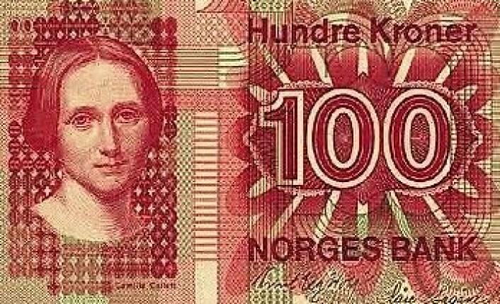 Camilla Collett på seddel fra Norges Bank