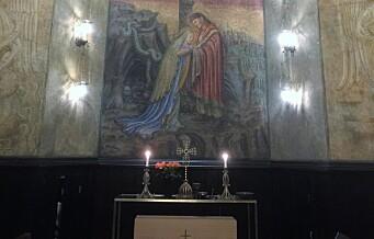 I Majorstuen kirke ligger møtestedet for kristen og buddhistisk tro