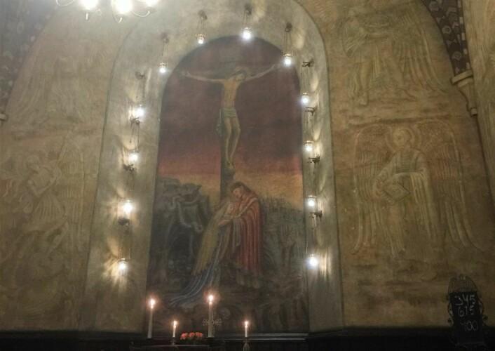 Under en reise til Roma og Vatikanet i 1932 ble kunstneren Per Vigeland inspirert av av det Sixtinske kapell i St.Peterskirken. Foto: Kjersti Opstad