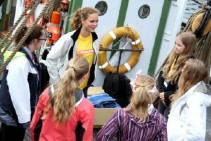 Sommerskolen Oslo på skuta Dyrafjeld. Foto: Sommerskolen