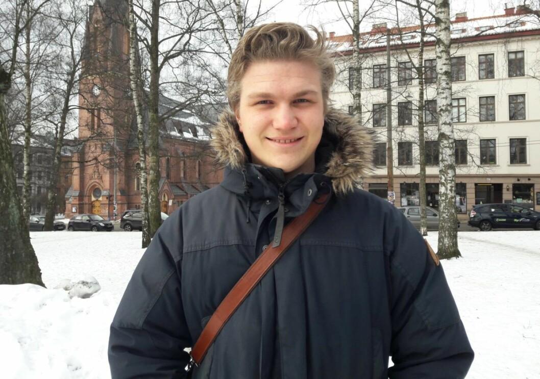Nicolai Øyen Langfeldt, leder for Oslo Unge Høyre
