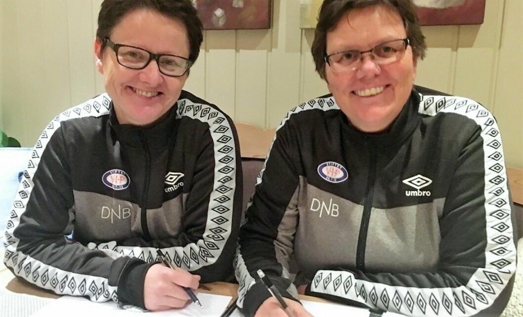 Sportssjef Eli Landsem og hovedtrener Minica Knudsen skal lede Vålerengas damelag til suksess denne sesongen. Foto: Vålerenga Fotball