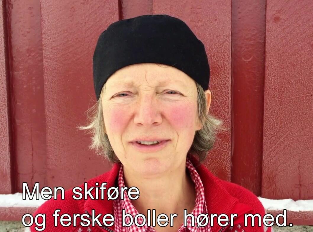 Ullevålseters bollesjef Birgitte Jensen forteller om travle tider i marka og boller i hopetall.
