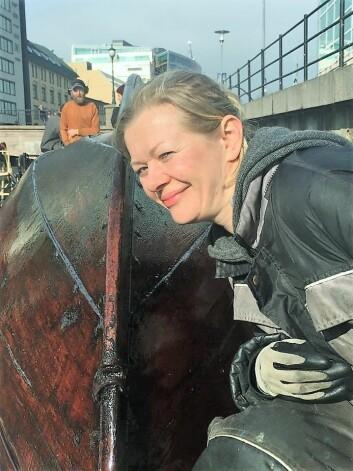 Zinnia Gjengstø tjærebrer en tradisjonsbåt Akerselva trebåtforening har hentet fra Nordmøre. Foto: Tove Elise Ihler