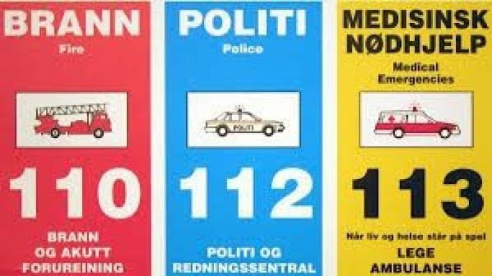 I Norge har vi tre nødnumre. Foto: Arkiv/VårtOslo