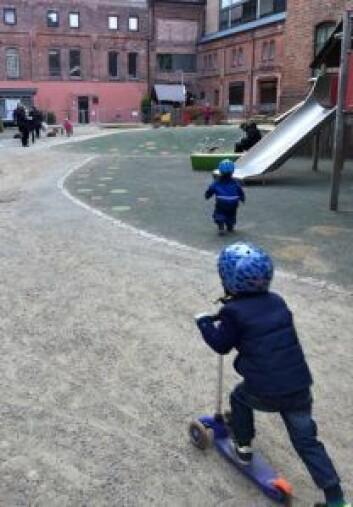 Personalet ved Ringnes FUS barnehage er skeptiske til å få en pub som nærmeste nabo. Foto: Marianne Husum