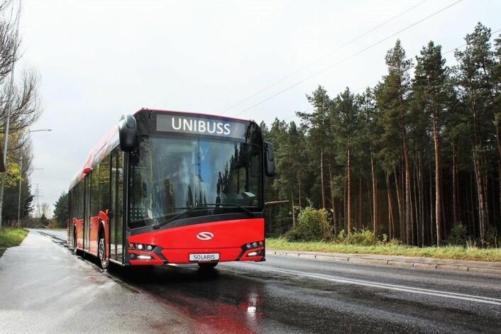 Unibuss er det folk før i tiden kalte sporveisbussene. Nå er Unibuss et datterselskap av Sporveien. Foto: Unibuss