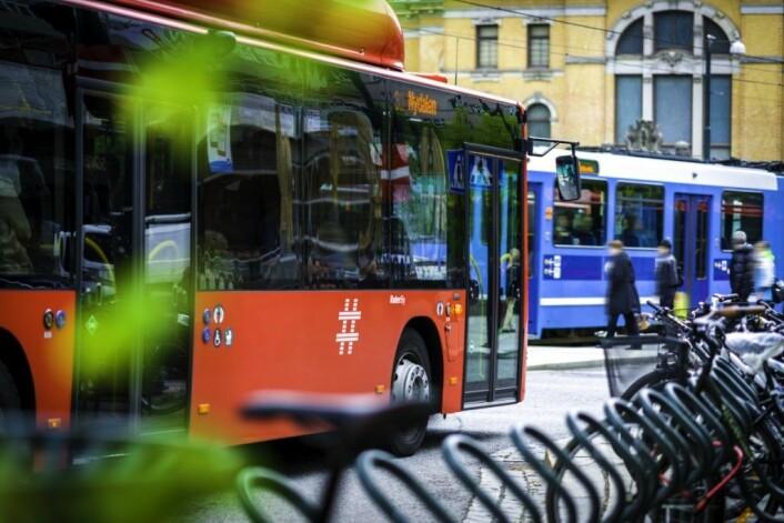 Mens bussene står stille vil trikker, t-baner og Oslos veier fylles opp under en storstreik ffra og med førstkommende mandag. Foto: Birgitte Haneide/Ruter