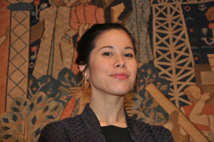 Miljøbyråd Lan Marie Nguyen Berg (MDG) roser aksjonistene på Ruseløkka. Nå prøvestenger hun Løkkeveien slik naboer og aksjonister har bedt om lenge. Foto: Arnsten Linstad