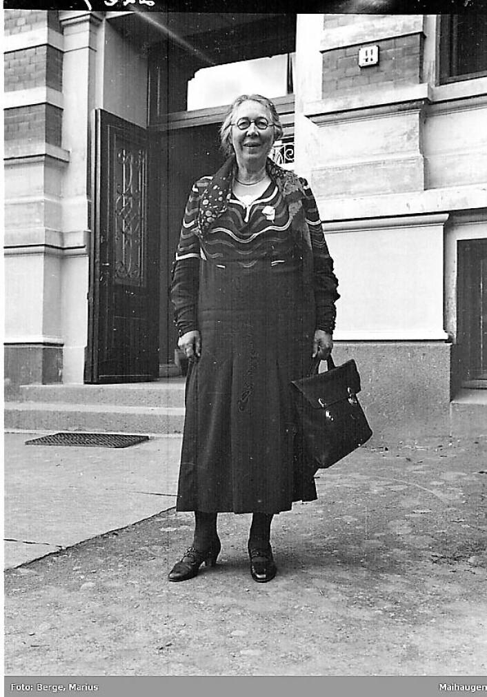 Sethne i 1933 under et nordisk skolemøte i Lillehammer. Foto: Marius Berge / Maihaugen