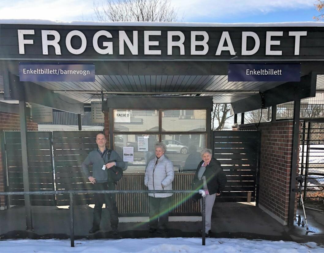 Bjørn Solheim og morgenbaderne Gøril Tandberg Smestad og Siri Andresen (til h.). Foto: Stian Maurveg