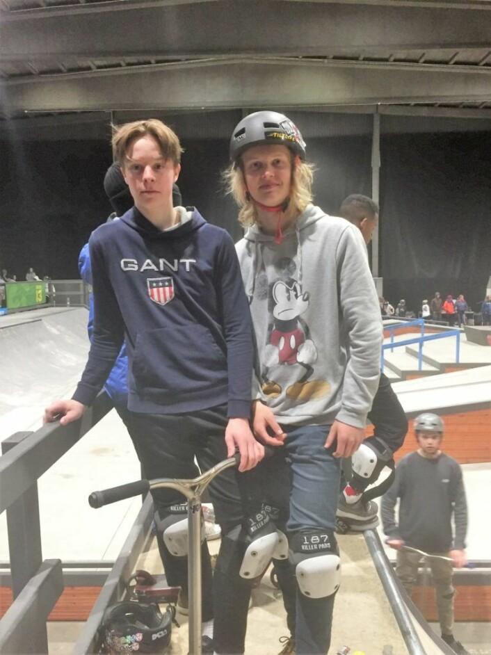 Bror Tobias Rinde og Thomas Ulleland, var to av deltakerne under EM-kvalifiseringen i Skur 13.<br /> Foto: Vegard Velle