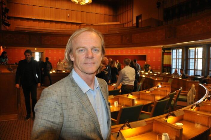 Administrerende direktør i Møller Eiendom, Ola T. Gjørtz deltok på bystyrets seminar om Hovinbyen. Foto: Arnsten Linstad