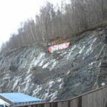 Ekebergskrenten består av ulike lag med alunskifer. Foto: Wikipedia