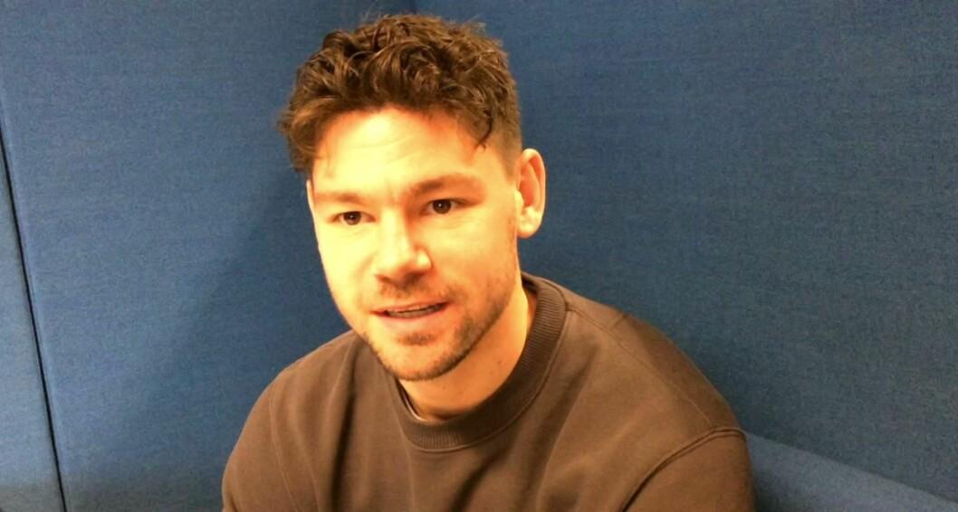 Daniel Fredheim Holm. Foto: Skjermbile fra video av Katarina Louise Nordam