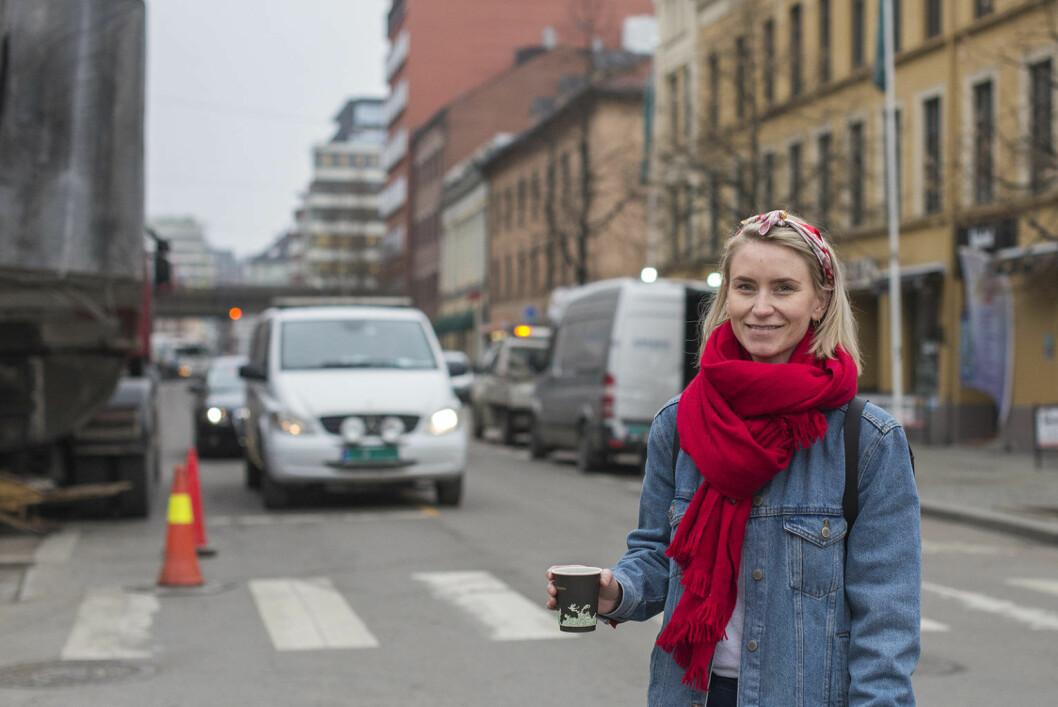 Line Oma (AP) mener Grønland godt kan bli litt mer likt Times Square. Foto: Morten Lauveng Jørgensen