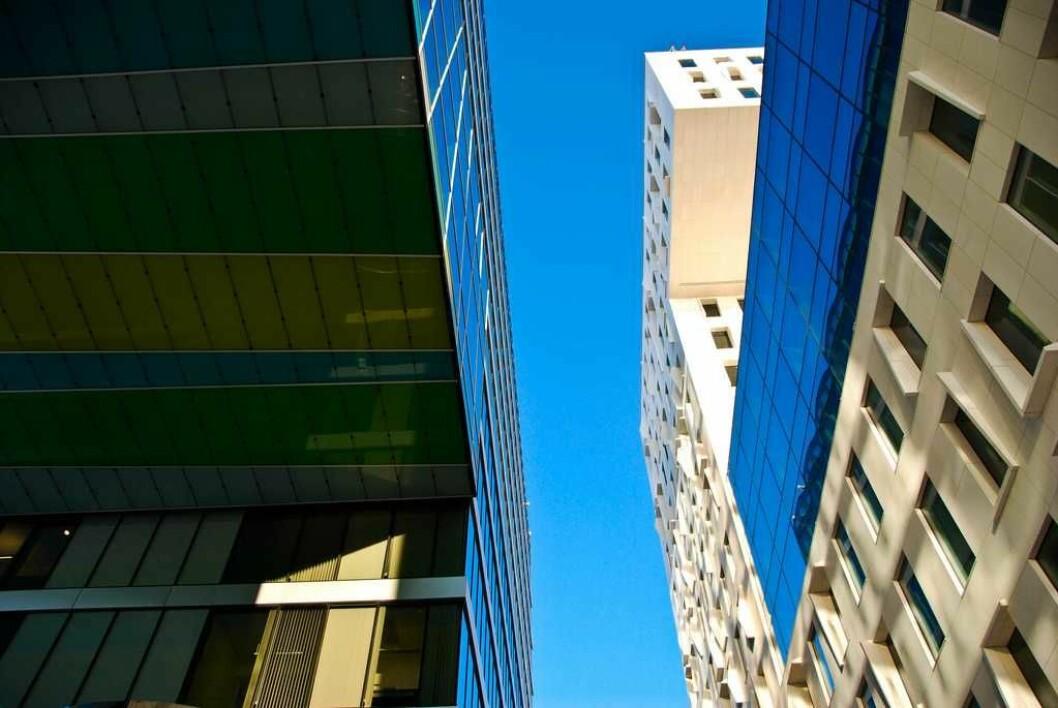 Nye bydeler vokser frem i hovedstaden, og folk betaler mer enn noensinne for å bo. Tett, høyt og urbant som her i Bjørvika. Foto: Wikimedia/A.Baekken