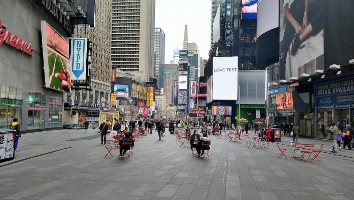 Legendariske Times Square i New York City. Foto: Pixabay