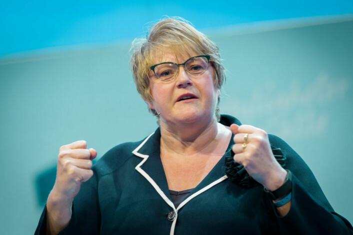 Kulturminister Trine Skei Grande (V) bor i Bispeallmeningens nabolag. Foto: Venstre
