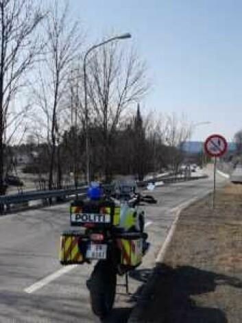 """Finnmarkingen ble tatt i en trafikkontroll for kjøring uten sikkerhetsbelte. Men ble frikjent for å ha kalt politimannen for en """"hestkuk"""". Foto: Politiet"""