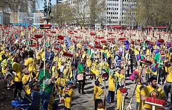 Ny verdensrekord i Oslo da over fem tusen barn kostet Rådhusplassen samtidig