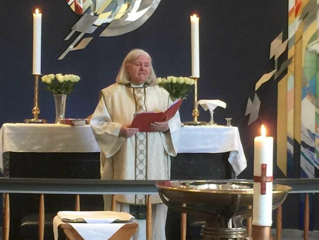 Sogneprest Rut Ugland snakket om kjærlighet denne søndagen. Foto: Kjersti Opstad