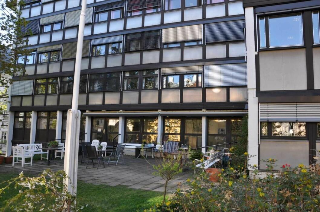 Frognerhjemmet ligger stille og tilbaketrukket på Schafteløkken. Men Oslo kommune vil ikke kjøpe plasser fordi sykehjemmet ikke tilfredstiller moderne krav. Foto: Arnsten Linstad