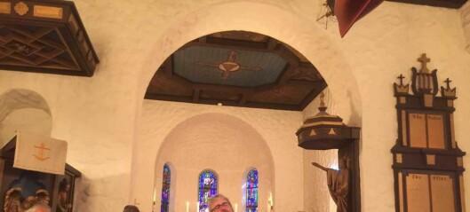 Da New Orleans kom til Ljan kirke, frykta jeg at taket ville blåse av kirken