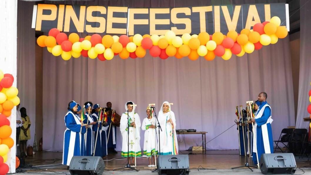 Kor fra den etiopisk ortodokse Tewahido St.Gebriel menighet i Oslo. Foto: Gee Mwamjeni Ngala