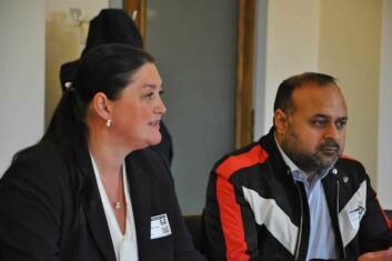 Grünerhavens eier Silvia Fartum og eier av Bar Fontes, Nadeem Asghar, møtte i april bystyrets finanskomite for å forklare de negative konsekvensene av det rødgrønne byrådets forslag til nye skjenkeregler i Oslo. Foto: Arnsten Linstad