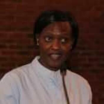 Angela Charles fra Sør-Sudan satte stor pris på få komme hit og synge på sitt eget språk. Foto: Hans M. Borge