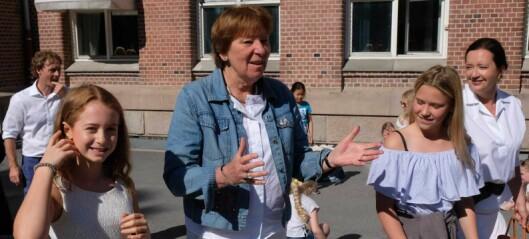 Elever ved Bolteløkka skole: — Kjære politikere, vi vil ha større skolegård. Ikke flere naboer