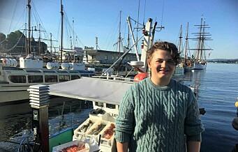 Theo (15) hadde arbeidsuka på en fiskebåt i Oslofjorden