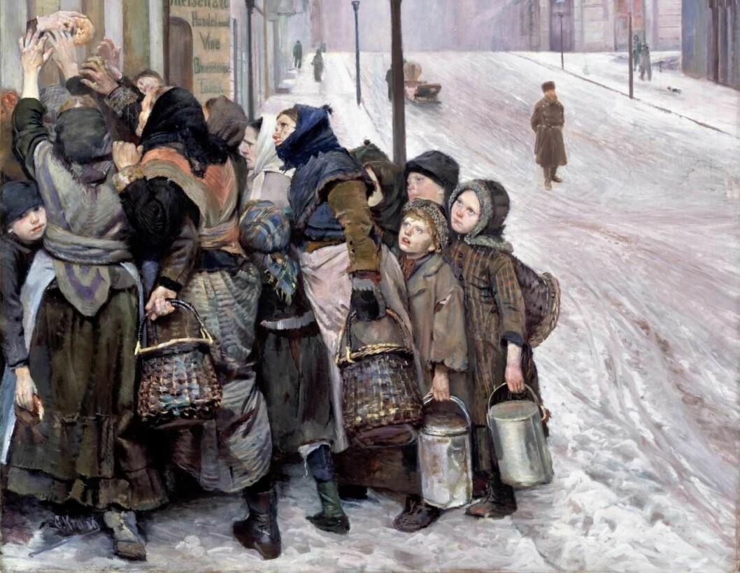 Christian Krohgs maleri, Kampen for tilværelsen. Maleriet henger på Nasjonalmuseet