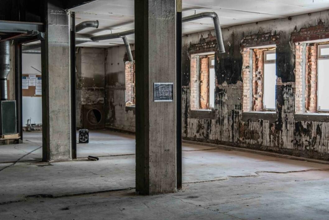 Høsten 2019 skal dette lokalet stå ferdig til å bli invadert av kunstnere. Foto: Manon van Goethem
