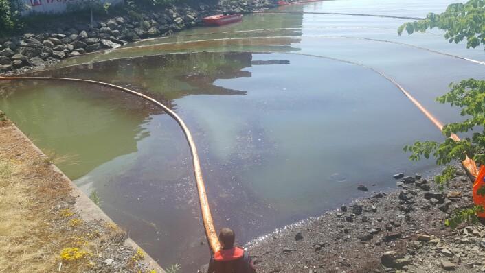 20.000 liter olje kan ha lekket ut i naturen fra Sporveiens verksted på Ryen. Foto: Gaute Eiterjord