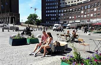 I dag ble plassen foran Rådhuset, Fridtjof Nansens plass, bilfri