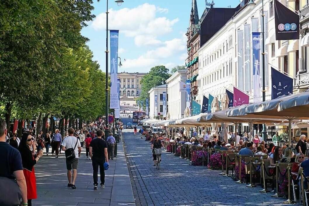 Folkeliv i Oslo sentrum. Vil det fortsette å være slik i fremtiden? Foto: VisitOslo/Tord Baklund
