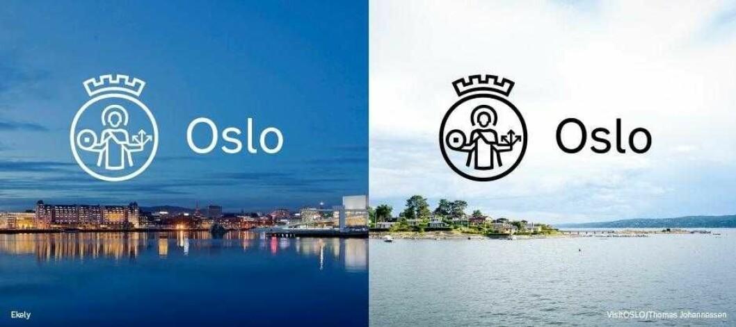 Slik skal Oslos nye byvåpen se ut, mener kommunikasjonsavdelingen ved byrådsleder Raymond Johansens kontor. Ilustrasjon: Oslo kommune