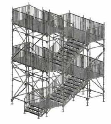 En midlertidig trapp ned fra Sørenga bru kan se slik ut.