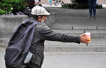 Byrådet sier nei takk til meldeplikt for tiggere i Oslo
