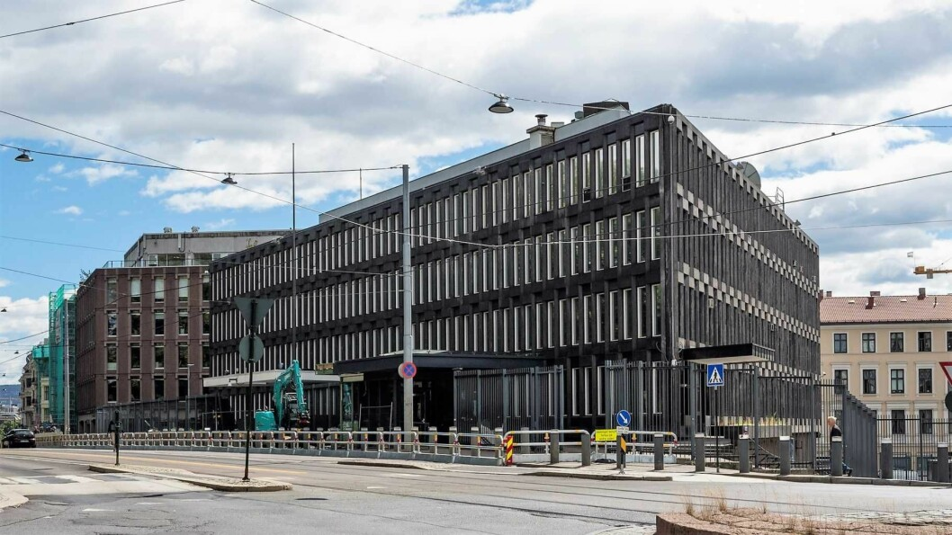 Den amerikanske ambassaden i Henrik Ibsens gate 48 ble flyttet i mai 2017. Foto: Lene Buskoven