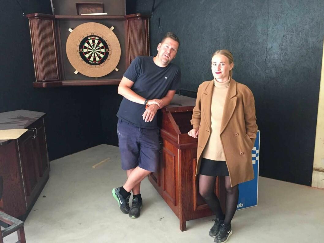 Katrine Finsand og Geir Oterhals er to av personene bak det gedigne nye utestedet i Torggata. Foto: Tor Arne Svendsen