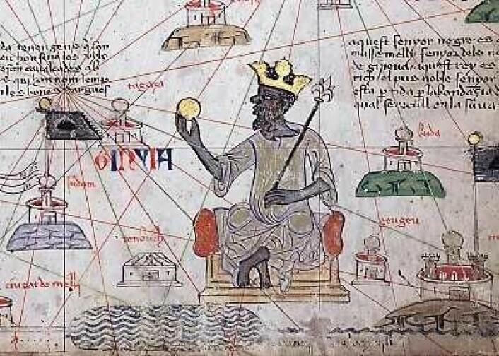 Mansa Musa grunnla det store Mali-kongedømmet. Illustrasjon: Wikimedia Commons