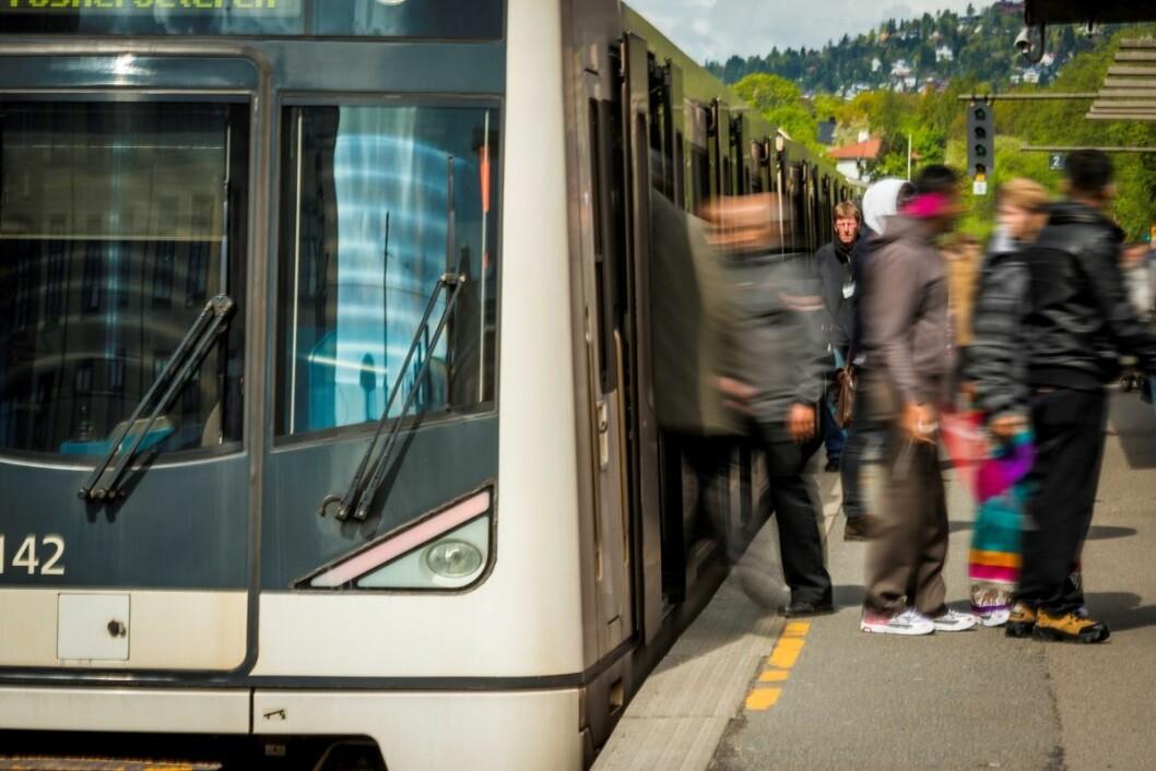 Signalfeil gjør at det er full stans på T-banen i Oslo. Foto: Birgitte Haneide / Ruter